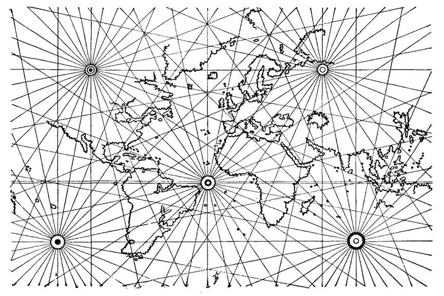 Схема английской карты мира